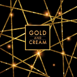 abstract background shiny glittering golden lines ornament