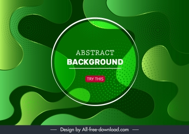 abstract background template modern green deformed curves
