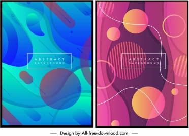 abstract background templates blue violet circles swirl ornament