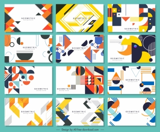 abstract background templates collection colorful flat geometric decor