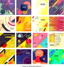 abstract background templates collection colorful modern flat decor