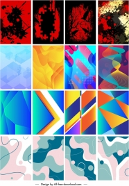 abstract background templates collection grunge color blend decor