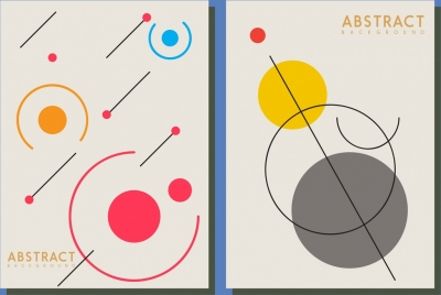 abstract background templates colored flat circles lines sketch