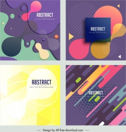 abstract background templates colorful modern decor