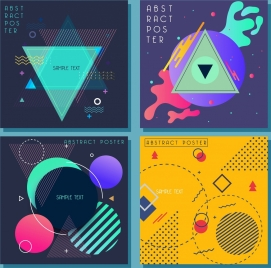 abstract background templates colorful triangles circles decor
