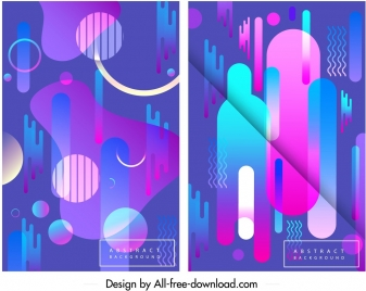 abstract background templates geometric design pink blue decor