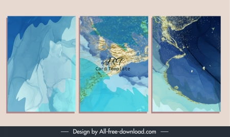 abstract background templates modern blue decor
