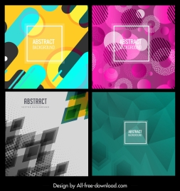 abstract background templates modern colorful geometric decor