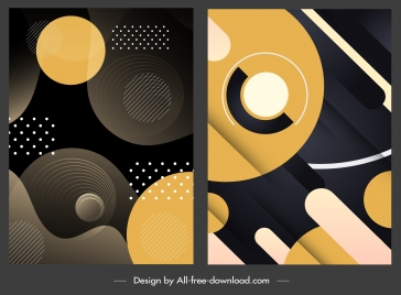 abstract background templates modern dark circles decor