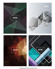 abstract background templates modern geometric decor