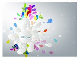 abstract background with paper flower