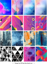 abstract backgrounds collection geometric grunge themes