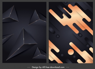 abstract backgrounds geometric decor modern dark design