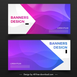 abstract banner templates violet modern dynamic design