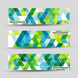 abstract banners design with colorful geometric background