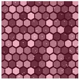 abstract bee nest hexagonal background