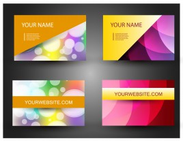 Windows 8 style business card vectors stock for free download abstract business card template reheart Image collections