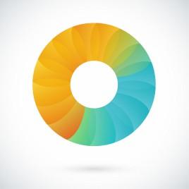 Abstract Circular Logo Design Element