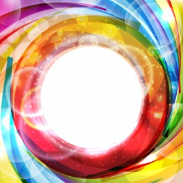 Abstract colorful shiny swirl