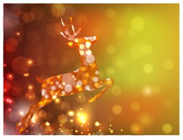 abstract deer in light circle magic background