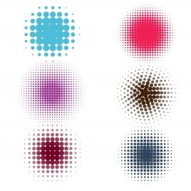abstract dot circle symbol