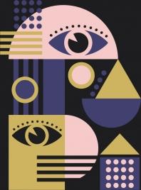 abstract drawing dark design flat geometry decoration