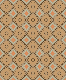 abstract geometric pattern classical colored seamless design