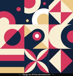 abstract geometric pattern template colorful flat classic decor