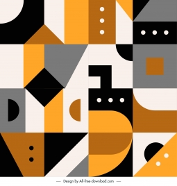 abstract geometrical pattern template flat colorful classic