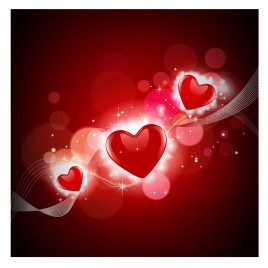 Abstract heart shapes background