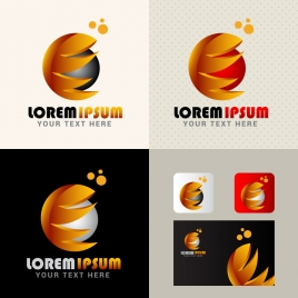 abstract logo design vector illustration