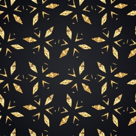 abstract pattern repeating golden decor