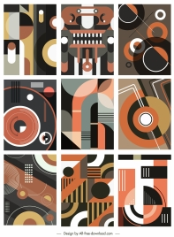 abstract pattern templates colorful messy geometric decor
