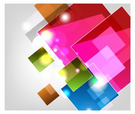 Abstract shiny colorful cubes
