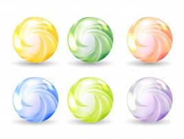 abstract sphere ball set