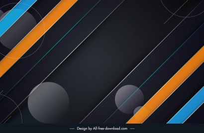 abstract technology background colorful flat dark geometric design