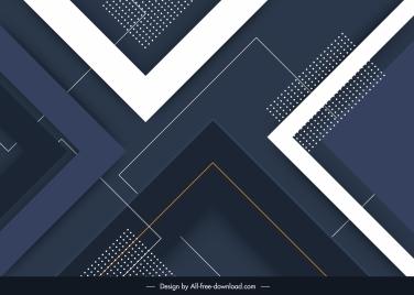 abstract technology background modern flat dark geometric decor