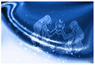 abstract zodiac constellation vector illustration