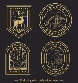 adventure logotypes dark flat classic handdrawn symbols sketch