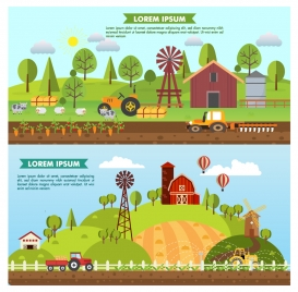 agriculture farming vector illustration in colored style