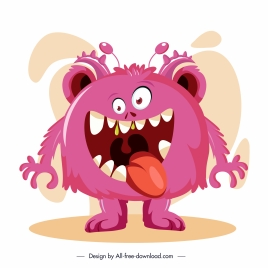 alien monster icon funny emotion sketch cartoon character