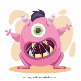 alien monster icon scary gesture cartoon character sketch