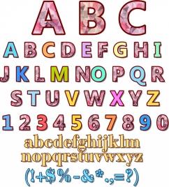 alphabet backdrop colorful polygonal decoration