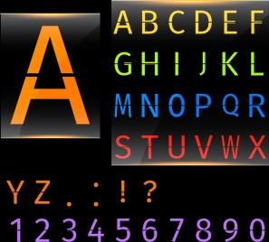 alphabet background colorful capital texts decoration