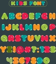 alphabet background colorful funny texts decoration