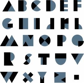 alphabet background dark black blue decor modern characters