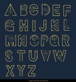 alphabet background flat geometric decor