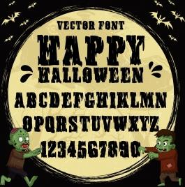 alphabet background halloween theme evil bat icons decor