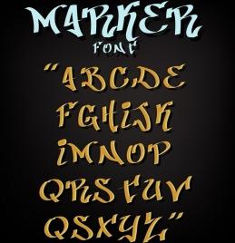alphabet background italic capital lettering decor