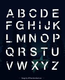 alphabet background modern contrast design